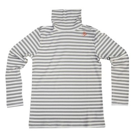 Fairy Powder フェアリーパウダー FP19-5102A Border Turtle-Neck Shirts Gray