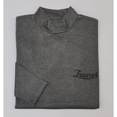 Tranvi TRCTB-05 Mock Neck Shirts Gray