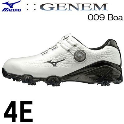 MIZUNO(ミズノ) GENEM -ジェネム- 009 Boa メンズ ゴルフ シューズ 51GQ190009 (4E)