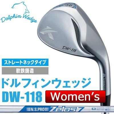 Kasco 秀逸 キャスコ DOLPHIN WEDGE -ドルフィン 人気ブランド ウェッジ- DW-118 スチールシャフト ZELOS 7 N.S.PRO レディース