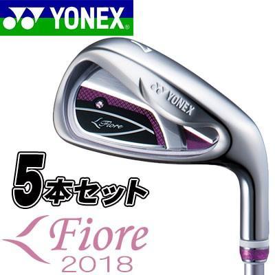 YONEX(ヨネックス) Fiore 2018 レディース アイアン 5本セット(#7-PW、SW) FR700 カーボンシャフト =