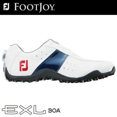 FOOTJOY(フットジョイ) EXL スパイクレス Boa 2018 メンズ ゴルフシューズ 45181 ホワイト/ネイビー (W)