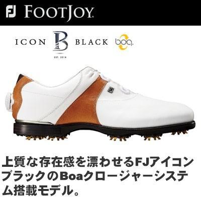 FOOTJOY(フットジョイ) FJ ICON 黒 Boa ゴルフ シューズ 52032