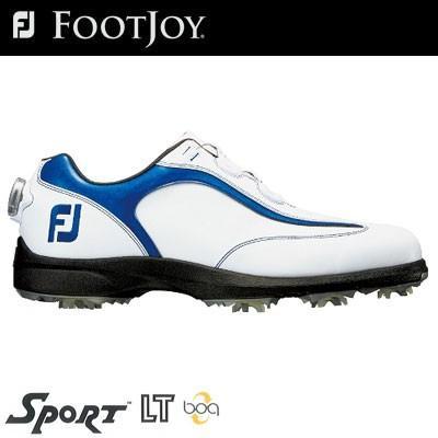 FOOTJOY(フットジョイ) SPORT LT Boa メンズ ゴルフシューズ 53232 ホワイト/ネイビー (W)