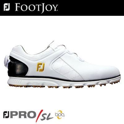 FOOTJOY(フットジョイ) PRO/SL Boa メンズ ゴルフシューズ 56846 ホワイト/ブラック (W)