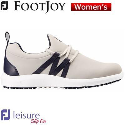 FOOTJOY(フットジョイ) FJ Leisure スリップオン 2018 レディース ゴルフシューズ 92909 グレー/ネイビー (W)