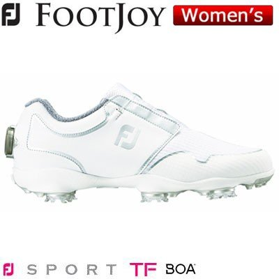 FOOTJOY(フットジョイ) FJ SPORT TF Boa 2019 レディース ゴルフシューズ 96206 ホワイト/シルバー (W)