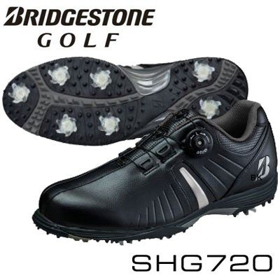 BRIDGESTONE GOLF(ブリヂストン ゴルフ) メンズ スパイク シューズ SHG720 BK =