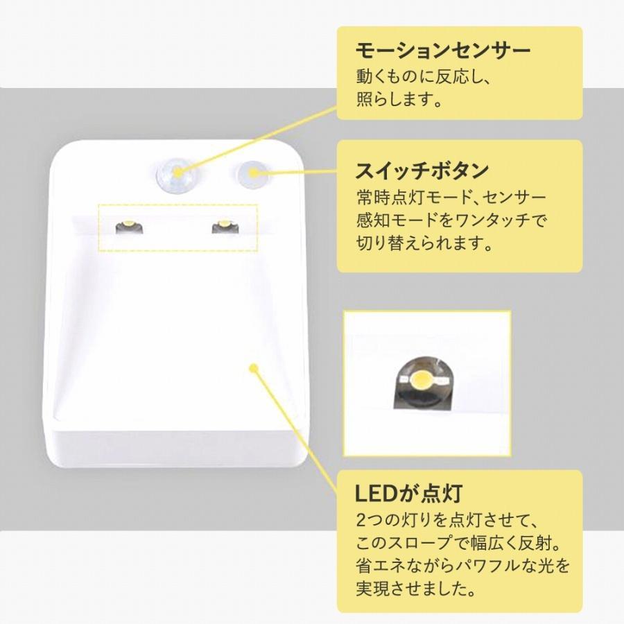 【訳アリ品】センサーライト 人感センサー 電池式 USB接続での動作も可 LED 暗いときのみセンサー作動 常時オンモード 玄関 階段|expsjapan|05