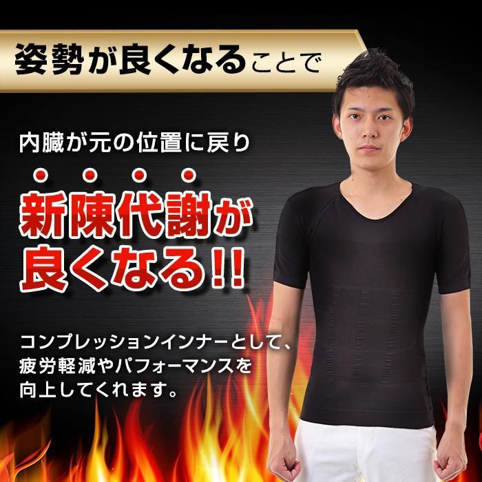 加圧シャツ トレーニング 2枚組 背筋矯正 加圧Tシャツ メンズ 加圧インナー 着圧  黒 白 コンプレッションインナー 疲労軽減 ダイエット|exshop-y|03