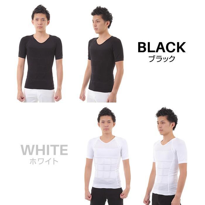 加圧シャツ トレーニング 2枚組 背筋矯正 加圧Tシャツ メンズ 加圧インナー 着圧  黒 白 コンプレッションインナー 疲労軽減 ダイエット|exshop-y|06