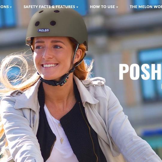 Melon helmet(メロンヘルメット)Posh collection ドイツ製マルチヘルメット、キッズから大人自転車・アーバンスタイルヘルメット|extremeair