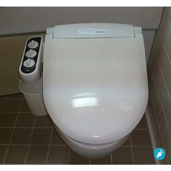 3点ユニットバス専用 無電源温水洗浄便座iS-100 (右手操作用)+壁付シャワー水栓用分岐金具付 電源不要/温水洗浄可【DIY商品】|eye-s2|04