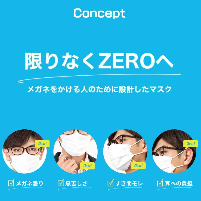 イーズマスクゼロ レギュラーサイズ 5枚入 Ease Mask ZERO メガネ くもらない 不織布 マスク eyeneed 03