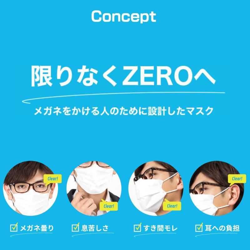 イーズマスクゼロ レギュラーサイズ 5枚入×2個セット Ease Mask ZERO メガネ くもらない 不織布 マスク|eyeneed|03