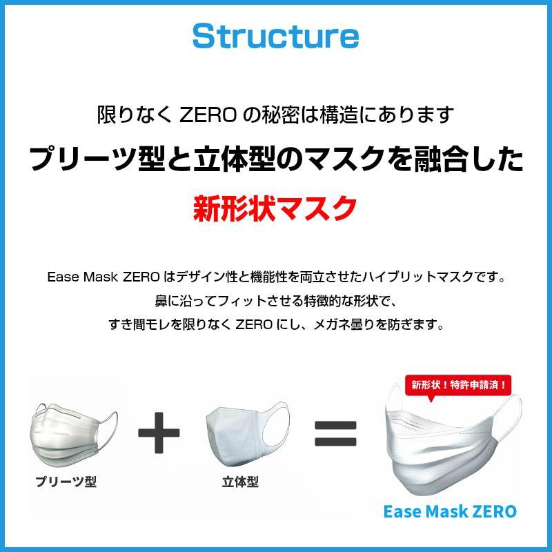 イーズマスクゼロ レギュラーサイズ 5枚入×2個セット Ease Mask ZERO メガネ くもらない 不織布 マスク|eyeneed|04
