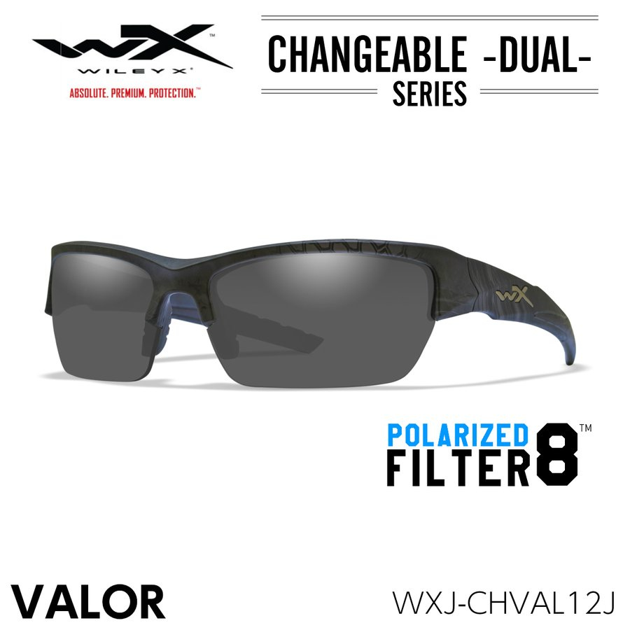 ワイリーエックス サングラス 偏光 ヴァロー クリプテック タイフォン バイク ミリタリー 軍用 VALOR WXJ-CHVAL12J Wiley X