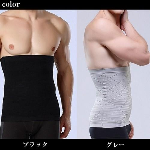 加圧インナー 腹筋 サポーター メンズ 補正下着 着圧ベルト 腹巻き ダイエット  M L|eyz|12