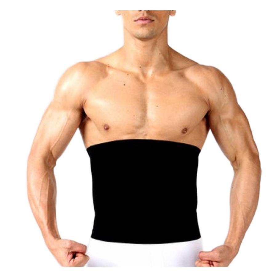 加圧インナー 腹筋 サポーター メンズ 補正下着 着圧ベルト 腹巻き ダイエット  M L|eyz|18