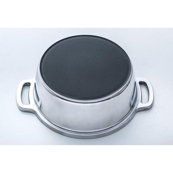 日本製 無水鍋 ムスイ KING キング 18cm IH対応 ガス火 直火 両手鍋 1.8L 無水調理 アルミ 鋳物鍋 ご飯鍋 ごはん鍋 炊飯 2.5合 昔ながら 懐かしい レトロ|ezakayume|07