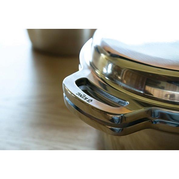 日本製 無水鍋 ムスイ KING キング 18cm IH対応 ガス火 直火 両手鍋 1.8L 無水調理 アルミ 鋳物鍋 ご飯鍋 ごはん鍋 炊飯 2.5合 昔ながら 懐かしい レトロ|ezakayume|08
