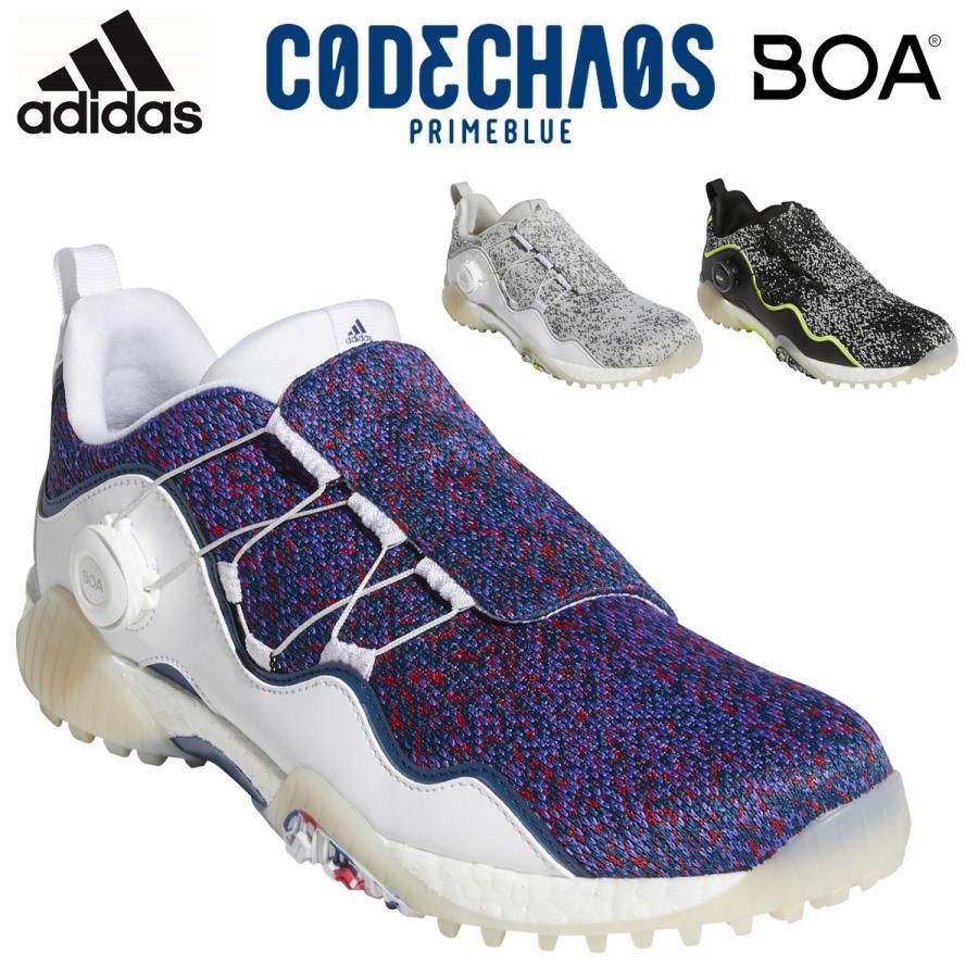 adidas ギフ_包装 Golf アディダスゴルフ 特価品コーナー☆ 日本正規品 CODECHAOS BOA21 2021新製品 スパイクレスゴルフシューズ PRIMEBLUE KZI13 コードカオスボアプライムブルー