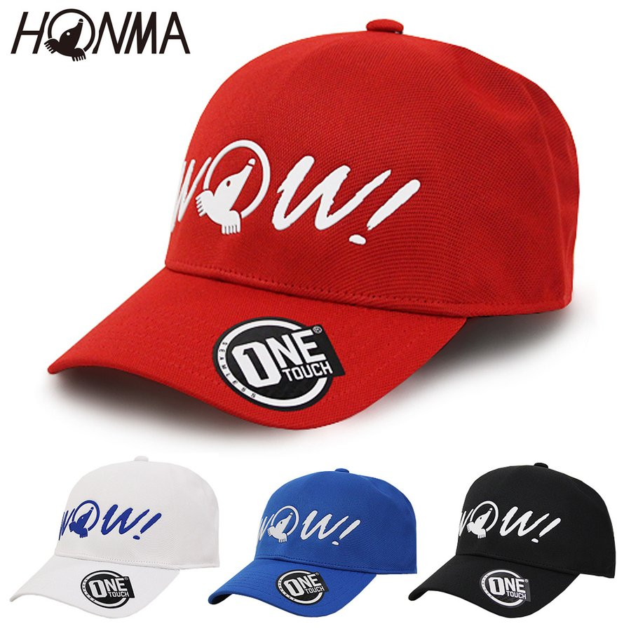 HONMA 気質アップ GOLF 本間ゴルフ 日本正規品 WOW ゴルフキャップ 現品 HMGQ018R001 メンズ