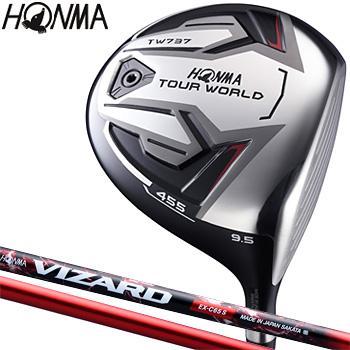HONMA GOLF本間ゴルフ日本正規品TOUR WORLD(ツアーワールド)TW737 455ドライバーVIZARD EX-C 65カーボンシャフト