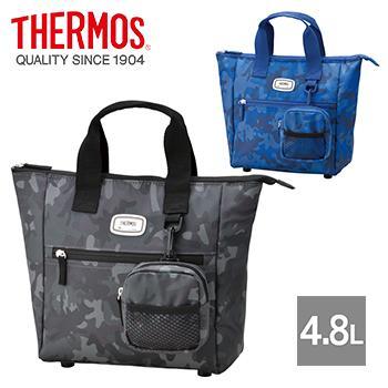THERMOS 高級 サーモス 保冷 ラウンド 4.8L REN-001 [宅送] ゴルフボールケース付き トートバッグ