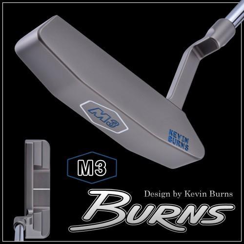 バーンズゴルフ M3 M5 パター スモークオーロラブラック仕上げ 400本限定生産 MADE IN USA 「Design by Kevin Burns M3/M5」 グースネック/スラントネック DEAL