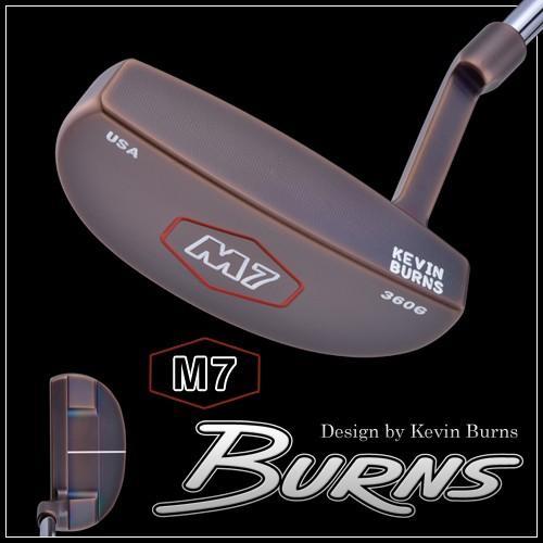 バーンズゴルフ M7 スラントネックパター スモークオーロラブロンズ仕上げ 100本限定生産 MADE IN USA 「Design by Kevin Burns M7」 DEAL