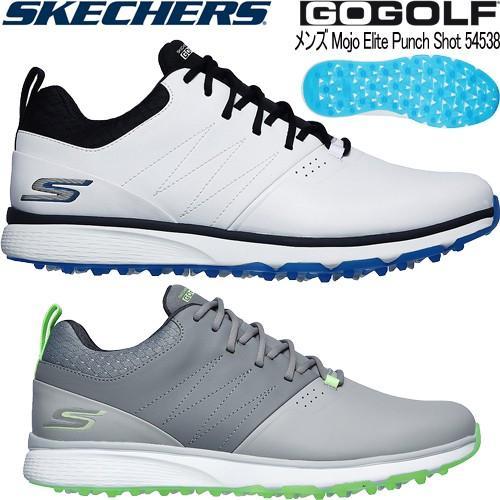 2019年モデル日本正規品 スケッチャーズ GO GOLF モジョ パンチ ショット スパイクレス ゴルフシューズ 「Skechers Mojo Punch Shot 54538」 あすつく対応