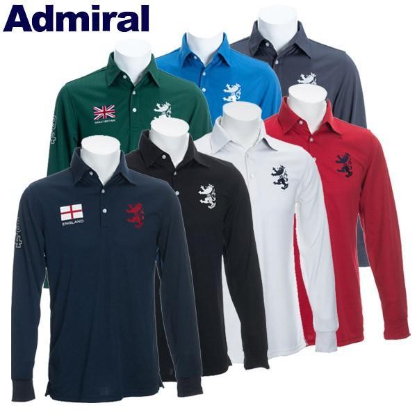 アドミラル ゴルフウェア メンズ 長袖ポロシャツ ADMA891 2019秋冬 継続モデル