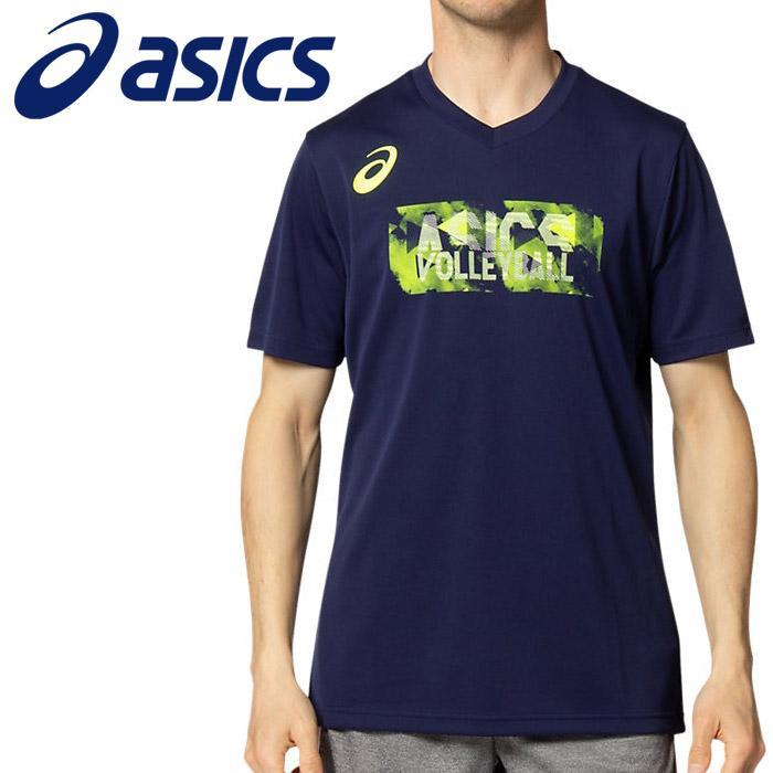 メール便送料無料 アシックス Tシャツ 人気ショップが最安値挑戦 ●手数料無料!! ポロシャツ グラフィックVネックショートスリーブトップ 2051A250-401 メンズアパレル
