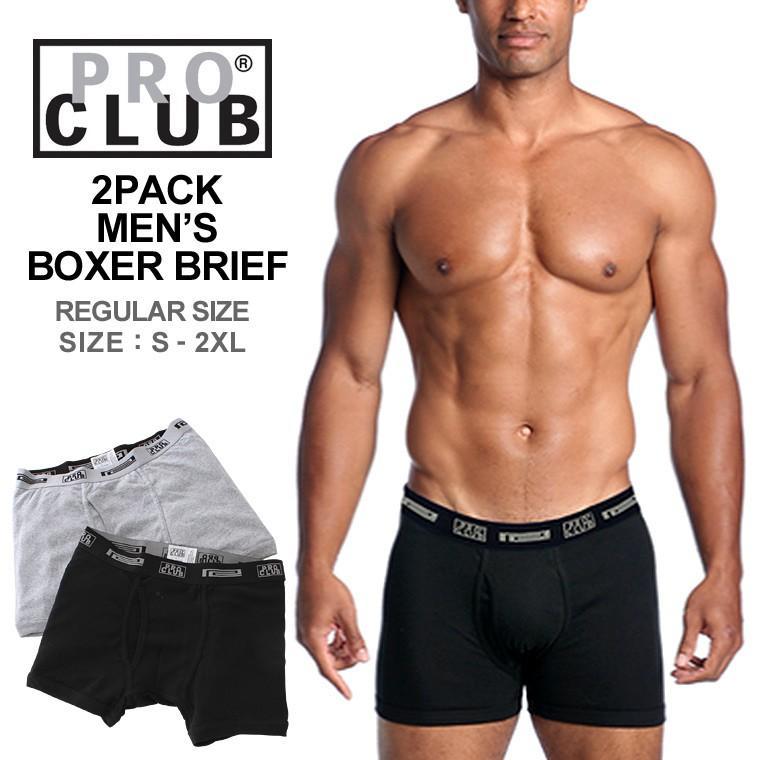 プロクラブ ボクサーパンツ 2枚セット メンズ|大きいサイズ USAモデル ブランド PRO CLUB|下着 ボクサーブリーフ ※返品・交換は不可※|f-box