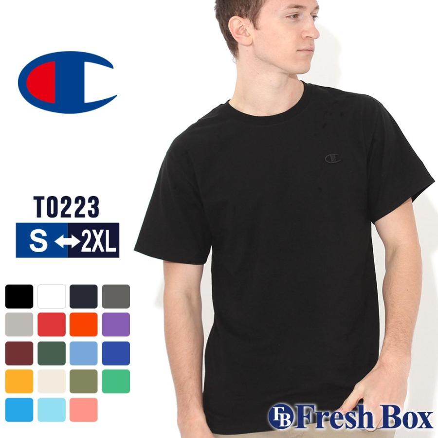 Champion チャンピオン tシャツ usa 大きいサイズ メンズ tシャツ メンズ ブランド アメカジ 刺繍ロゴ|f-box