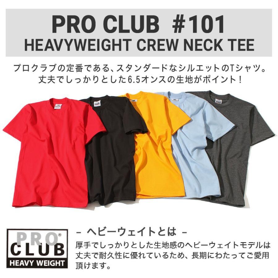 プロクラブ Tシャツ 半袖 クルーネック ヘビーウェイト 無地 メンズ 大きいサイズ 101 USAモデル ブランド PRO CLUB 半袖Tシャツ アメカジ f-box 02