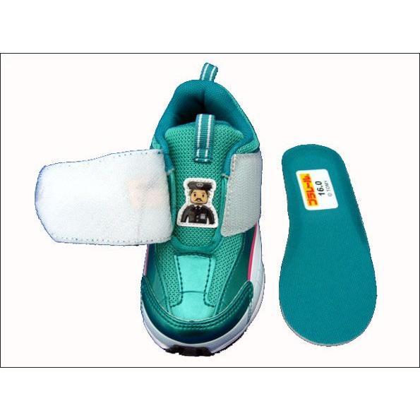 プラレール [子供靴] E5系新幹線 はやぶさスニーカー 16096 [ マジックテープ モデル ][ グリーン ] ■15cm〜19cm f-club 03