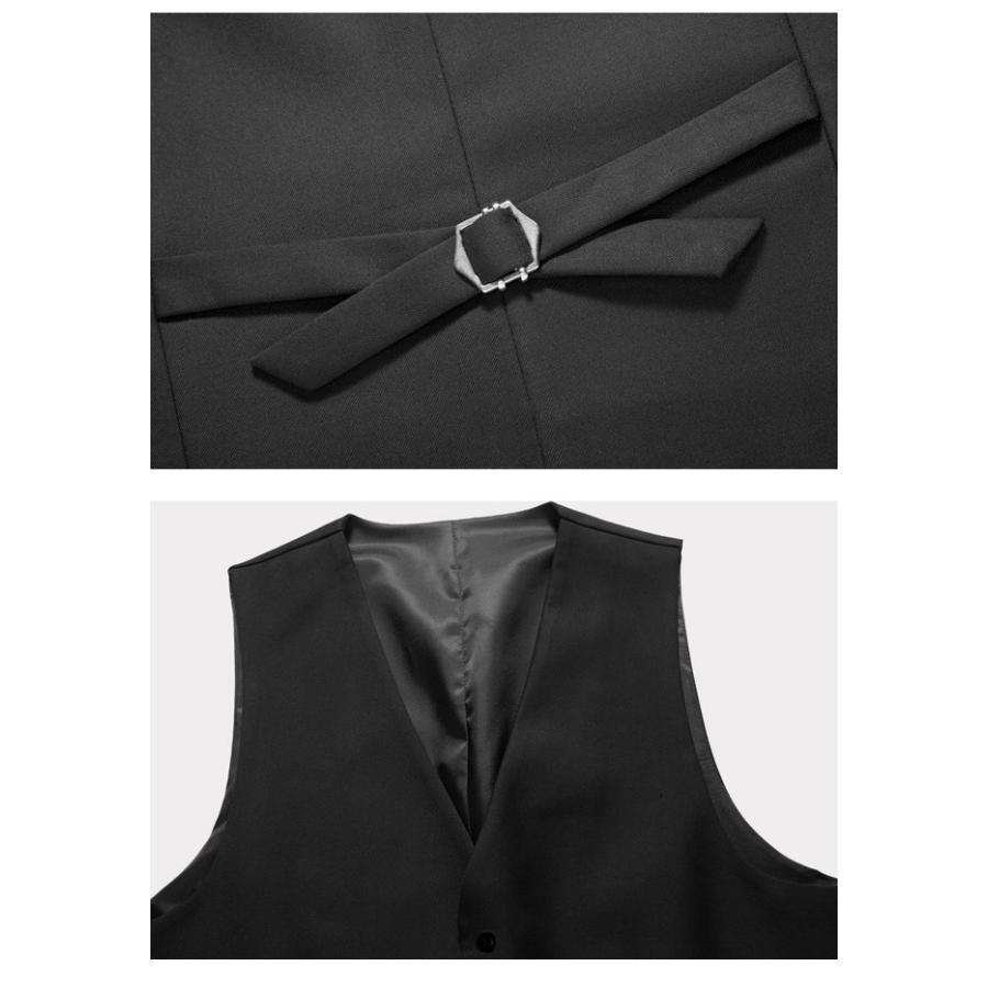 ジレベスト スーツベスト ビジネスベスト メンズ Vネックベスト 前開きベスト 無地ベスト フォーマル用ベスト 紳士服|f-f-s|09