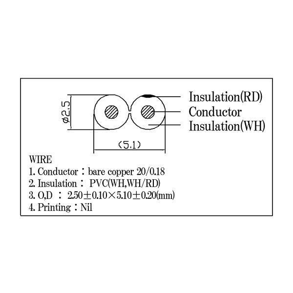 スピーカーケーブル 赤白(OFC)5m×2本セット C-077|f-fact|02