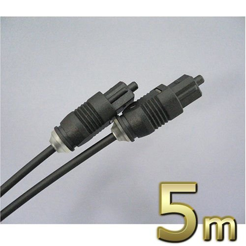 光デジタルケーブル 角型-角型 5m スリムタイプ(R) hk50 f-fact