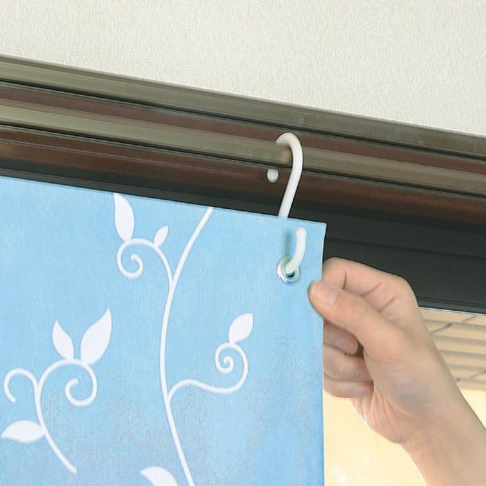 インテリアアート断熱・遮光シート2枚組リーフ柄(ブルー)|f-folio|06