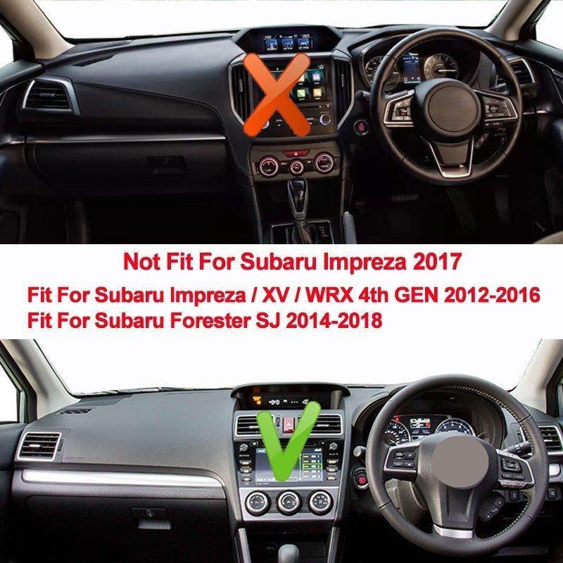 自動車用ダッシュボードマット TAIJS ダッシュボードカバー 滑り止め スバル インプレッサ XV WRX 4th 2012-2016 フォレスター SJ 2014-2018|f-haru|06