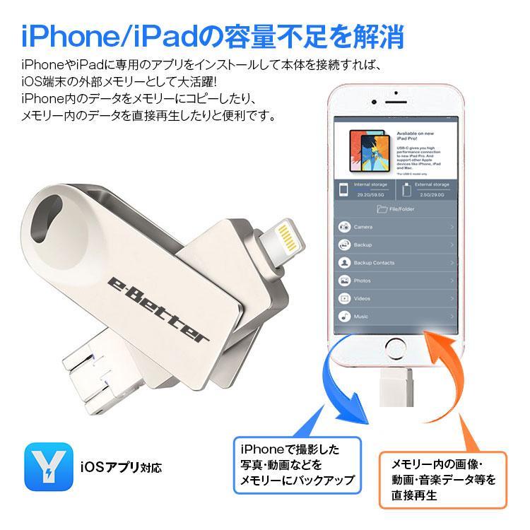 iPhone/Android USBメモリー iPhone Android 64GB USB 容量拡張 iOS アンドロイド PC 定形外送料無料 f-innovation 02