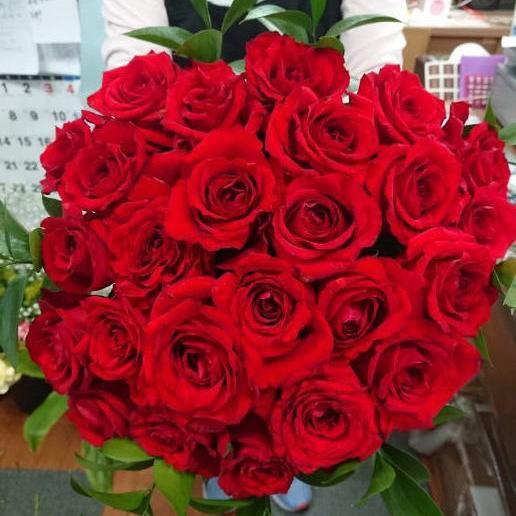 真っ赤なバラ30本のプロポーズブーケ f-kinomi