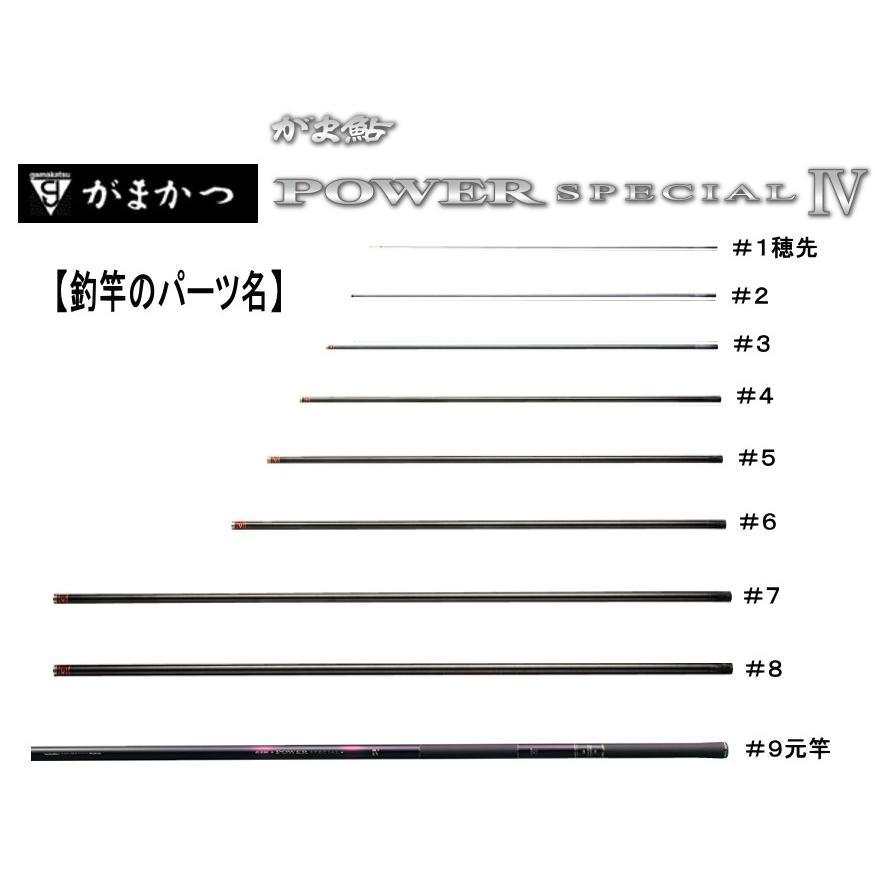 234501009がま鮎パワースペシャル4赤/荒瀬100   #9 (上から9番目節・元竿)