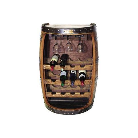 ウイスキー樽家具 ワインラック(背面カットバージョン)(壁付)(ナチュラル)(送料別途)(代引きはご利用出来ません)(安心の日本製)