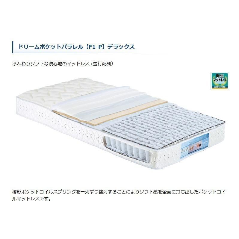【国産品】ワイドダブル マットレス ドリーム228 F1-PDX 205cmロングサイズ 平行配列 送料無料(東北・九州・北海道・沖縄・離島は除きます)