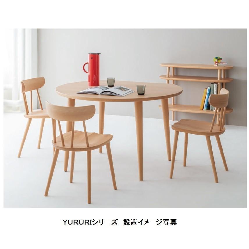 10年保証 飛騨産業製 テーブル YURURI SL331N ホワイトオーク材 木部:7色対応 送料無料玄関渡し 北海道・沖縄・離島は除く|f-room|03