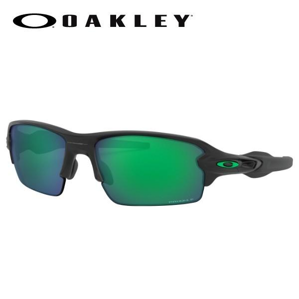 OAKLEY サングラス FLAK 2.0 (A) OO9271-2561 Matte 黒/Prizm Jade Polarized